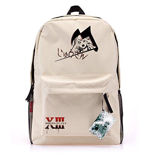 MeMoreCool Tokyo Ghoul Cream-colored Casual/Travel Backpack Japanese Anime Cartoon Bookbag Cosplay Shoulders Bag Laptop Bag