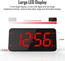 Extra Loud Alarm Clock with Bed Shaker, Vibrating Alarm Clock for Heavy Sleepers, Deaf and Hard of Hearing, Dual Alarm Clock with USB Charger, 7-Inch ...