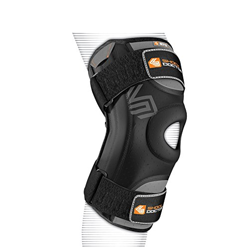 Shock Doctor Knee Stabilizer with Flexible Support Stays (Black, Large) (Joint Support Ship)