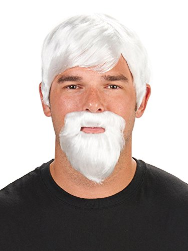 White Wig Men (The Colonel Adult Wig and Beard)