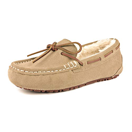 DREAM PAIRS Women's Auzy-02 Sand Faux Fur Slippers Loafers Shoes Size 6.5-7 B(M) US