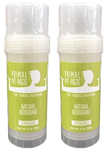 Primal Pit Paste Natural Deodorant Lemongrass Pack of (Lemongrass Deodorant)