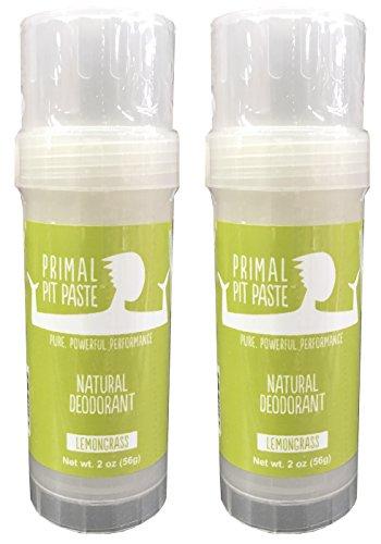 Primal Pit Paste Natural Deodorant Lemongrass Pack of 2 by Primal Pit Paste