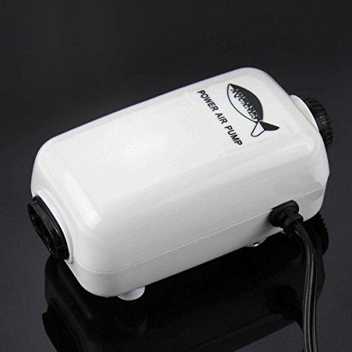 Max Flow Rate,Air Pump Two Outlets Adjustable Aquarium Fish Tank 65GPH