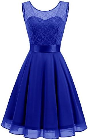 423f9128c18d BeryLove Women's Short Floral Lace Bridesmaid Dress A-Line Swing Party Dress