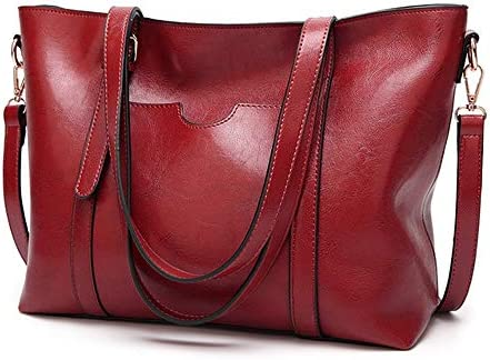 レディースハンドバッグや財布ファッショントップハンドルサッチェルトートPUレザーショルダーバッグDeclamatory 実用的 (色 : Black, サイズ : Onesize)
