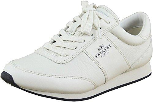 Coach Women's Raylen Chalk/Chalk 1 Sneaker 9 (Coach Sneakers)