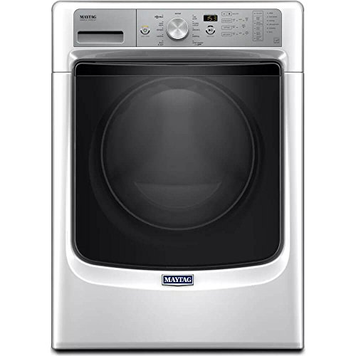 Maytag Stackable White Front Load Washing Machine with Steam 4.3 Cubic Feet High Efficiency - Energy Star