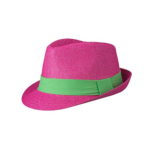 Myrtle Beach Adults Unisex Street Style Hat (L/XL) (Fuchsia/Lime Green) ()
