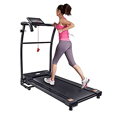 BANGQIYI Folding Exercise Electric Treadmill Running Gym Machine, Black