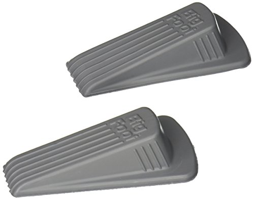 Master Caster Big Foot Office Doorstops, 4.75 x 2.25 x 1.25 Inches, Gray, 2/Pack (00972)