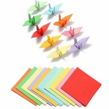 100pcs 8x8cm Brand New Origami Square Paper Double Sided Coloured