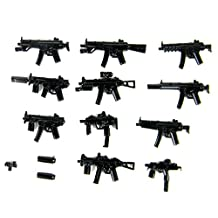 Custom Modern Combat MP5 Series Weapons Pack (P5) Designed for Brick Minifigures