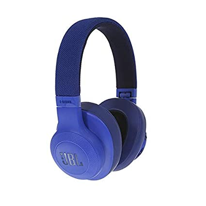 2587c8577b1 JBL E55BT Signature Sound Wireless Over-Ear Headphones with Mic (Blue)