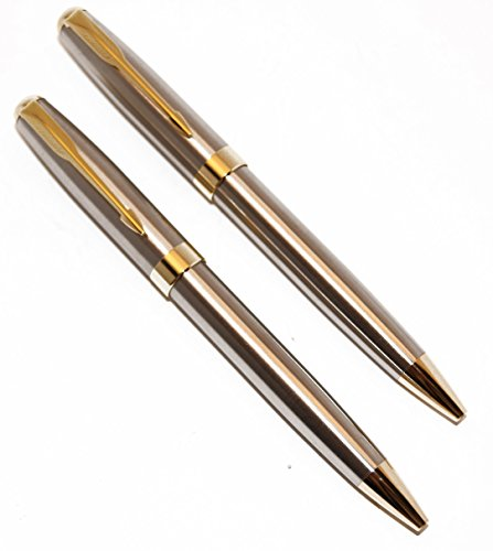 Gold Executive Pen - Stainless Steel and Gold Police Detective/Executive Pens (2 Pen Pack)
