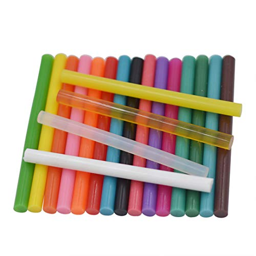 10Pcs 7 * 100Mm Clear Colorful Hot Melt Glue Sticks Vintage Sealing Wax Envelope Invitation Stamp Security Packaging Repair Tool Clear]()