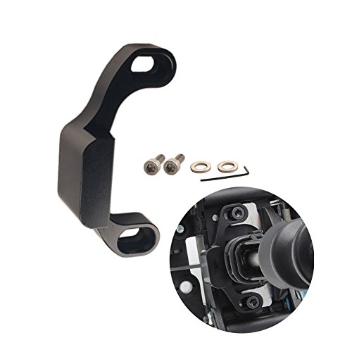 (DEWHEL Manual Performance Shifter Stop Gap Removal Shift Stop Removes Loose Sloppy Shift Gate Feel CNC Aluminum for 2015+ WRX/10-14 Legacy/Outback/14+ Forester (Black) )