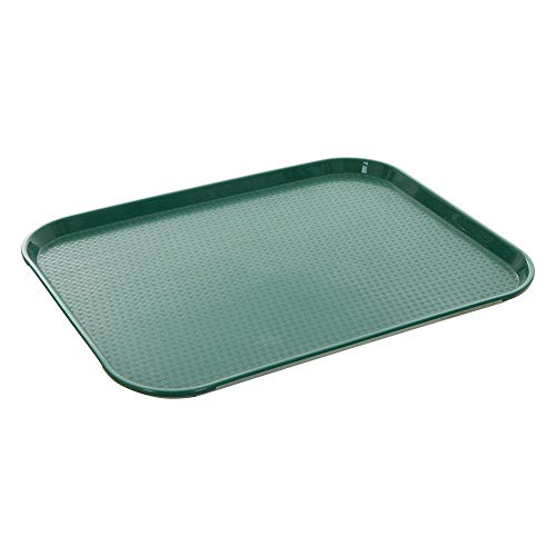 - Fast Food Tray 14 x 18 Green Rectangular Polypropylene Serving Tray for Cafeteria, Diner, Restaurant, Food Courts
