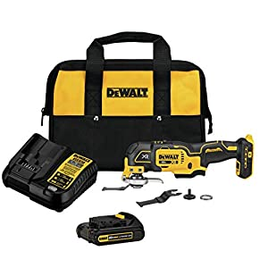 DEWALT 20V MAX XR Oscillating Tool Kit, 3-Speed (DCS356C1)