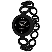 Howdy Analogue Black Dial Women's Watch (Black) 318