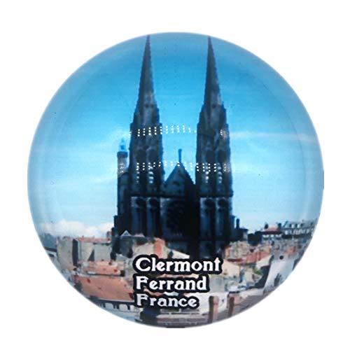 Clermont Ferrand Cathedral France Fridge Magnet 3D Crystal Glass Tourist City Travel Souvenir Collection Gift Strong Refrigerator Sticker