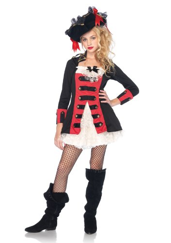 Pretty Pirate Captain,waistcoat dress with lace under skirt