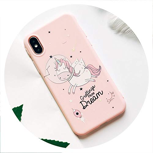 Soft TPU Phone Case for iPhone 6S Case Silicone Black Simple Scrub Back Cover for iPhone 7 6 6S 7Plus XS Max X 8 Case,07,for iPhone 8 ()