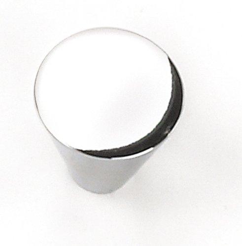 Polished Chrome Cone Cone (Laurey 26126 Cabinet Hardware 1-Inch Large Cone Knob, Polished Chrome)