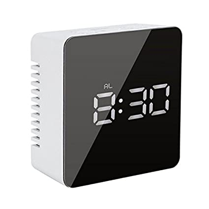 Amazon.com: TKMARS Digital Clock LED Electronic Alarm Clocks for Bedrooms with Snooze (Rectangle): Home & Kitchen