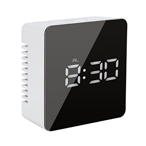 Clock Alarm,Hangang Clock Digital Alarm Clock Wake Up Light Digital Clock LED Electronic Alarm Clocks for Bedrooms With Snooze,2 Levels Adjustable ...