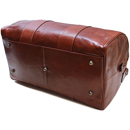 Super Tuscan Leather Duffle Travel Bag Model #1 by Floto (Image #9)