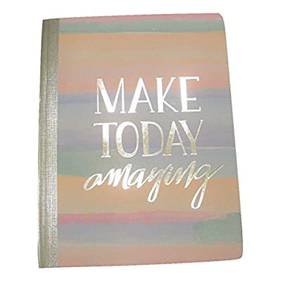 Studio C Carolina Pad College Ruled Foil Cover Composition Book ~ Silver Lining (Make Today Amazing; 7.5