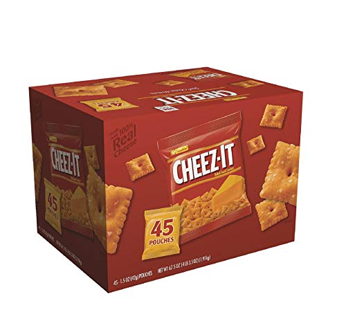 Cheez-it Crackers, 1.5 oz Pack, 45 Packs/Box, Sold as 1 Carton by MOT4