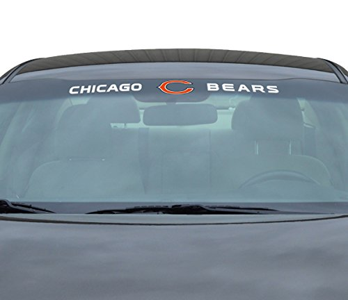 NFL Chicago Bears Windshield Decal, Orange, - Malls Outlet Chicago