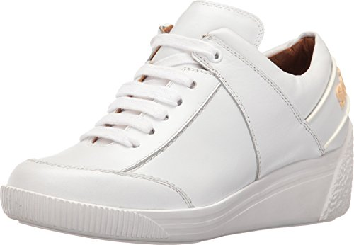 See By Chloe Women's Duncan Wedge Fashion Sneaker, White, 39 EU/9 M US Chloe Calfskin Leather