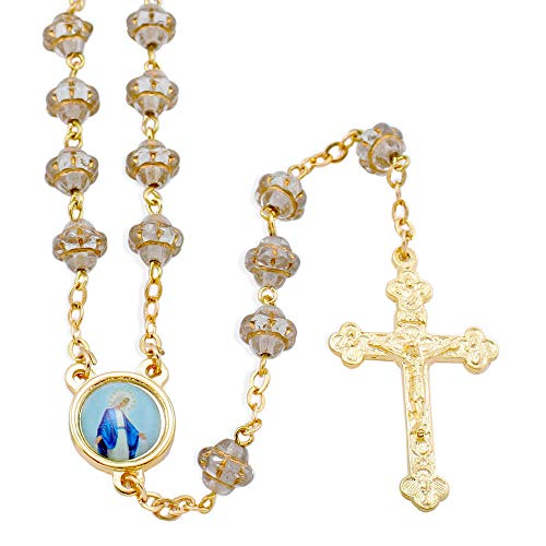 Clear Rosary Beads with Paternoster Beads