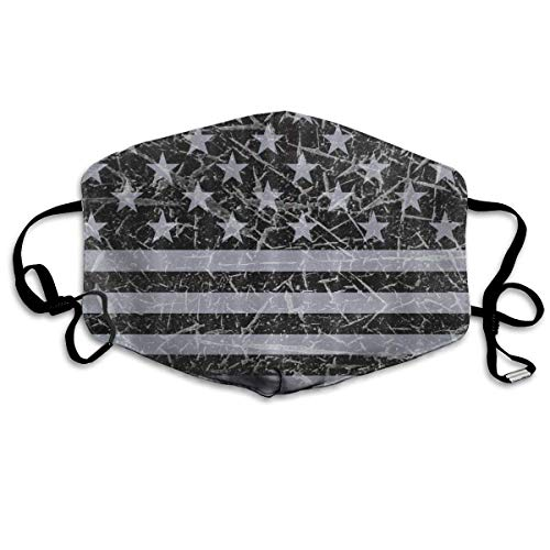 FFR-EHC Retro Distressed USA Flag Patriotic Face Masks Breathable Dust Filter Masks Mouth Safety Masks Eco-Friendly Breathable Print ()