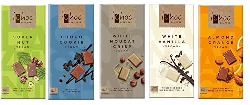 Ichoc Vegan German Chocolate Bars Mixed Case Selection | 5 x 80g |