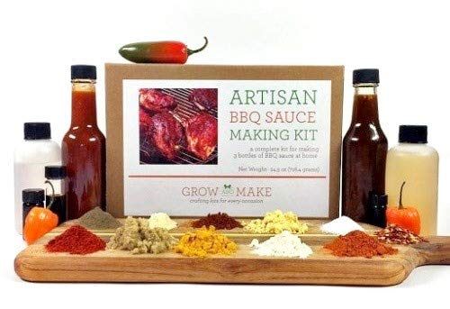 Artisan DIY BBQ Sauce Making Kit by Grow and Make - Create 3 Barbecue Sauce Recipes at Home