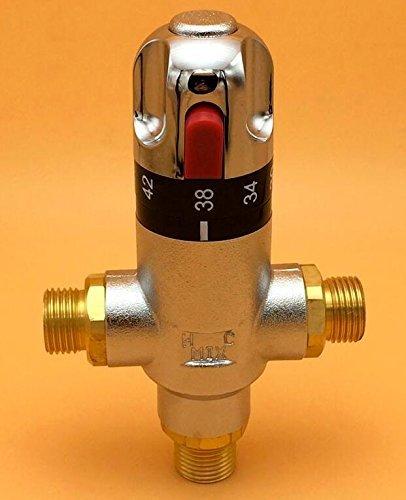 "Bathroom Thermostatic Mixer Valve Bidet Spray Water Mixing: Brass G1/2"" Thermostatic Mixing Valve Hot Cold Water For"