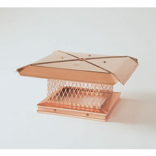 100383 8x13 Copper Gelco Chimney Cover