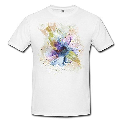 Blume II Lady T- Shirt , Stylisch aus Paul Sinus Aquarell Old Style