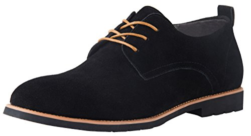up Casual Oxford Suede Leather Shoe Black US Size 12 (Lace Up Suede Oxfords)