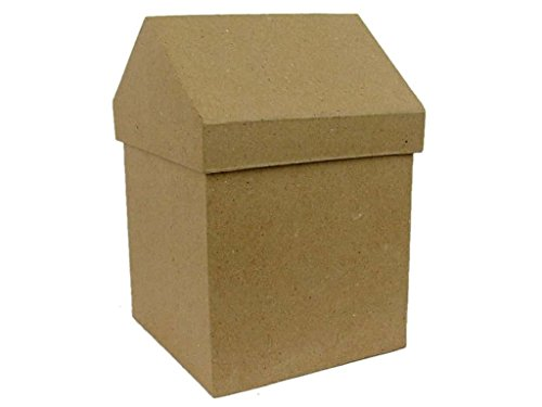 Paper Mache Small House Box 6 1/2 in. (12 (Papier Mache House)