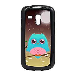 Case Fun Case Fun Turquoise Owl by DevilleART Snap-on Hard Back Case Cover for Samsung GalaxyS3 Mini (I8190)