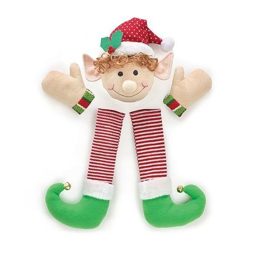 Festive Christmas Holiday Plush Elf Wreath Decorating Kit, Multicolor (Christmas Elf Toy)