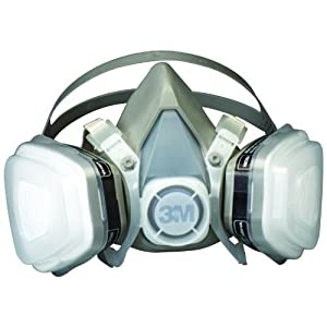 G & F Products Professional Paint Mask Dual Cartridge Respirator Assembly Organic Vapor P95, Large, Half Face Safety mask