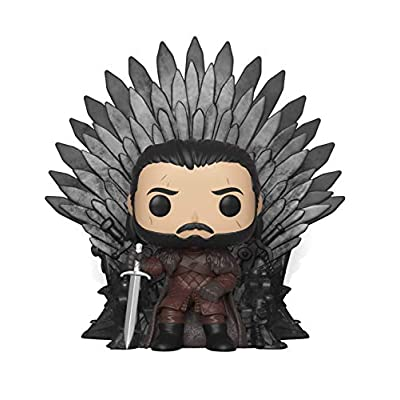 Funko Pop! Deluxe: Game of Thrones - Jon Snow Sitting On Iron Throne: Toys & Games