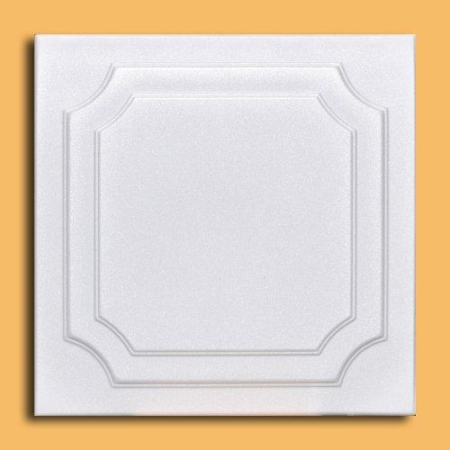 50pc Yalta White Ceiling Tiles