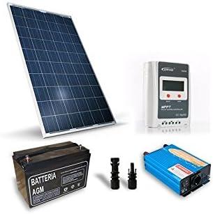 Kit Solar Refugio Base 250W 12V,sistema fotovoltaico independiente